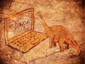 Dinosaur & laptop