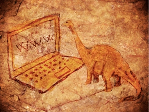 Dinosaur & laptop